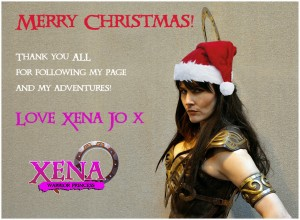 Xena Lookalike Joanne Marriott Christmas 2014