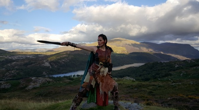 Jo Marriott as Braga from the film Chariot