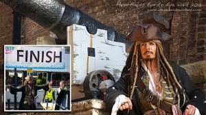 Jack Sparrow Lookalike Sean George charity walk