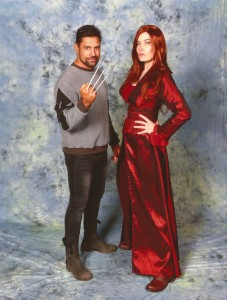 Jo as Dark Phoenix with Manu Bennet