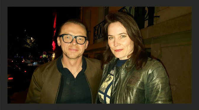 Jo with Simon Pegg